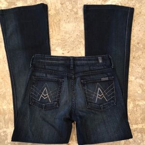 """7 For Mankind """"A"""" Pockets Weathered Bootcut 25/2"""